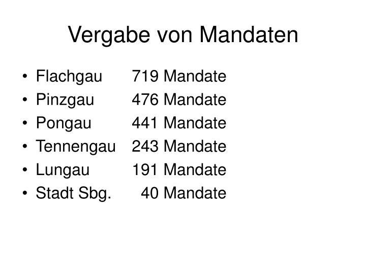 Vergabe von Mandaten