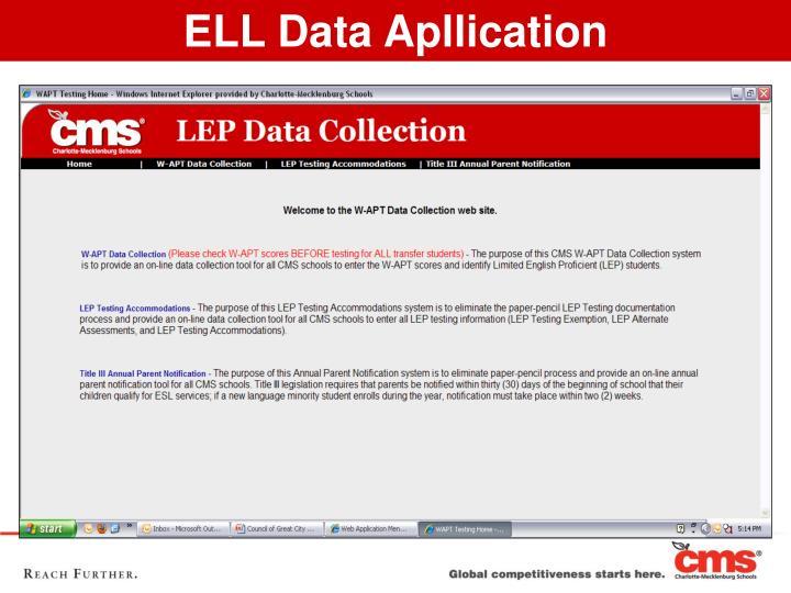 ELL Data Apllication