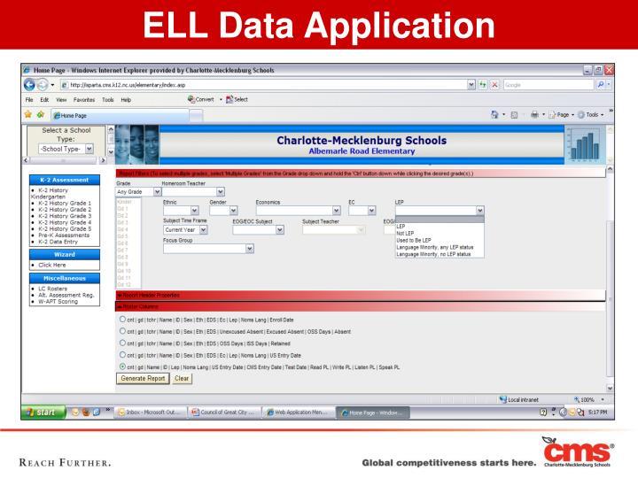 ELL Data Application