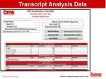 transcript analysis report
