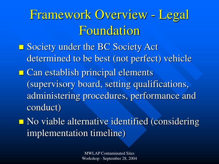 Framework Overview - Legal Foundation
