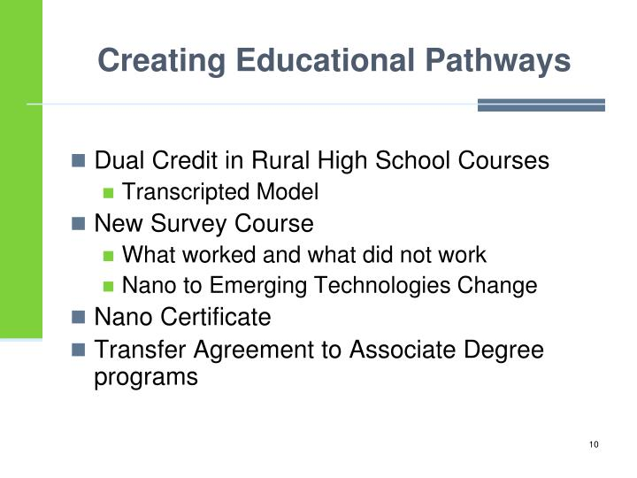 Creating Educational Pathways