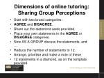 dimensions of online tutoring sharing group perceptions