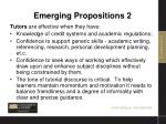 emerging propositions 2