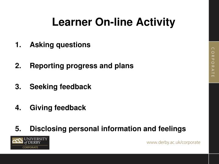 Learner On-line Activity