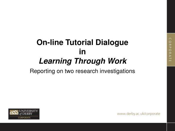 On-line Tutorial Dialogue