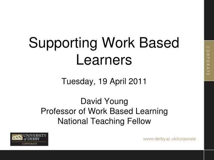 supporting work based learners