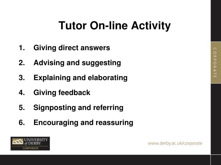 Tutor On-line Activity