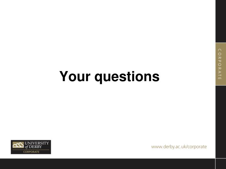 Your questions