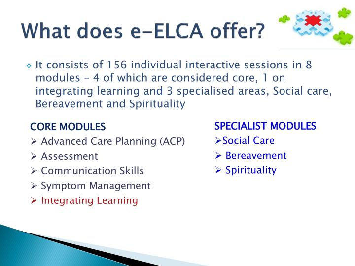 What does e-ELCA offer?