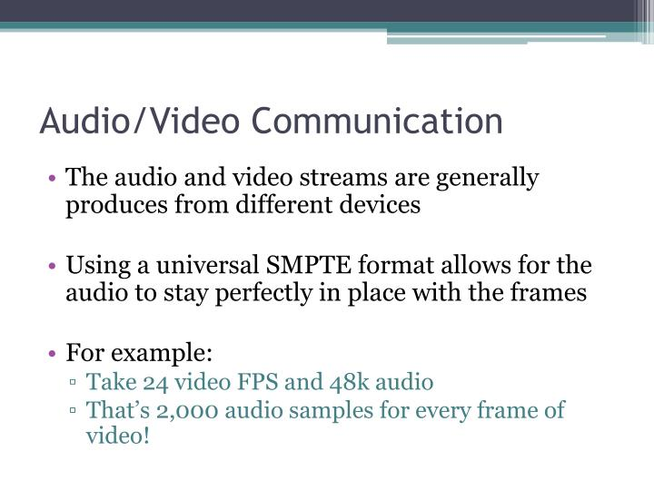 Audio/Video Communication