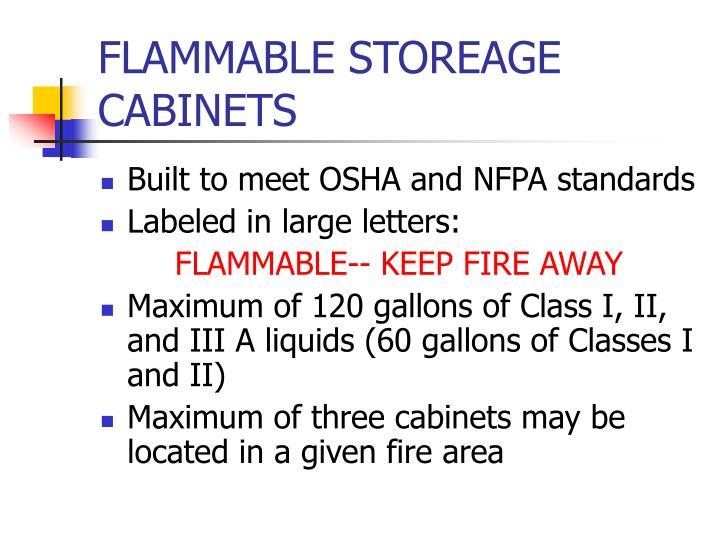 FLAMMABLE STOREAGE CABINETS