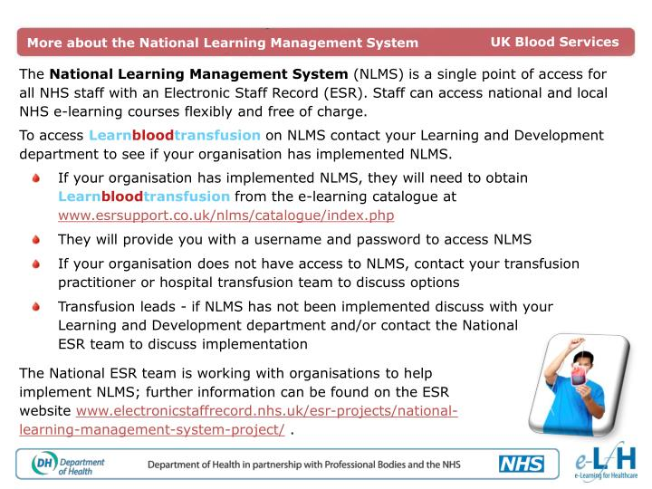 More about the National Learning Management System