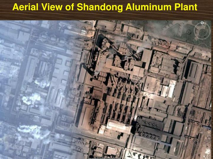 Aerial View of Shandong Aluminum Plant