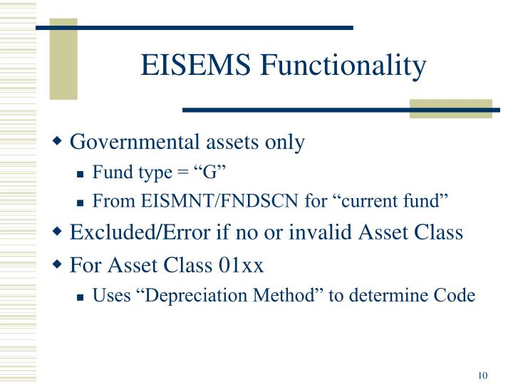 EISEMS Functionality