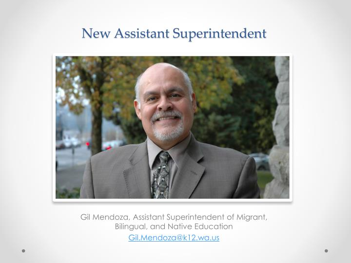New assistant superintendent