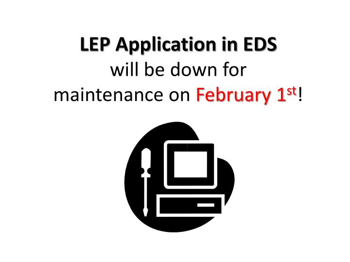 LEP Application in EDS