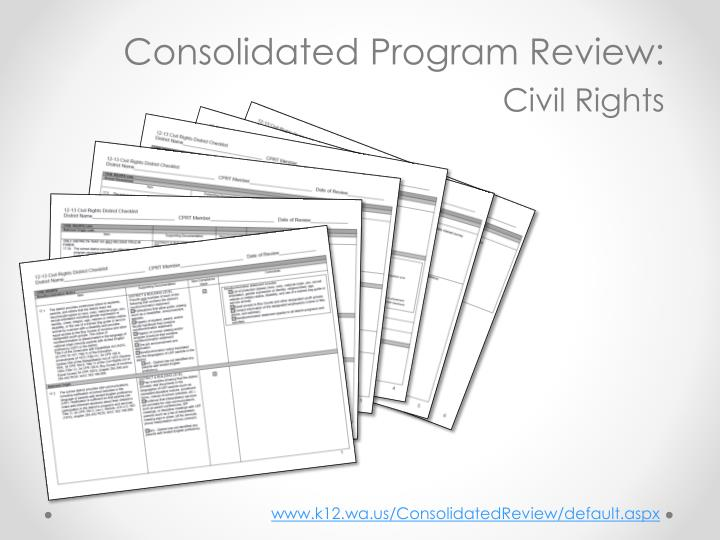 Consolidated Program Review: