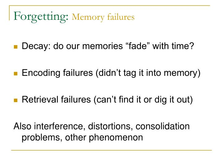 Forgetting: