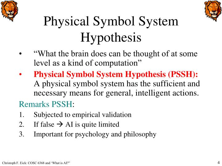 Physical Symbol System Hypothesis
