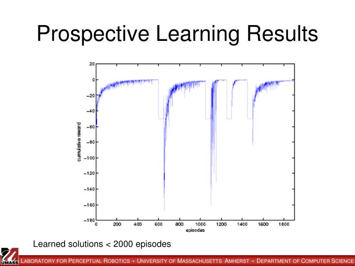 Prospective Learning Results