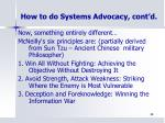how to do systems advocacy cont d2