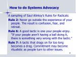how to do systems advocacy2