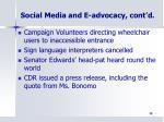 social media and e advocacy cont d1