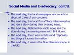 social media and e advocacy cont d2