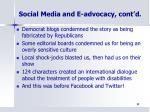 social media and e advocacy cont d3