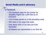 social media and e advocacy1