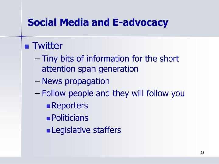 Social Media and E-advocacy