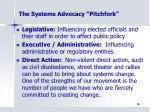 the systems advocacy pitchfork2