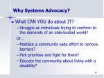 why systems advocacy1