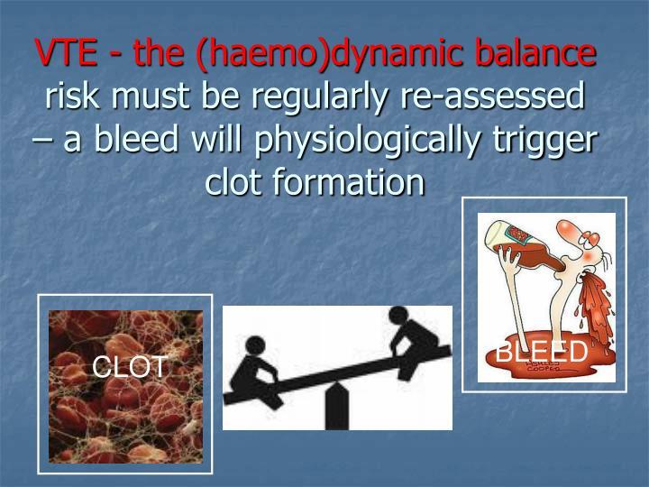 VTE - the (haemo)dynamic balance