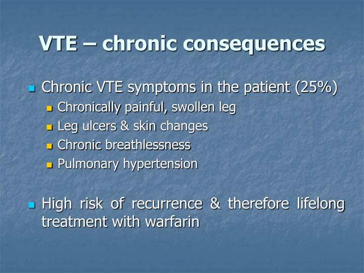 VTE – chronic consequences