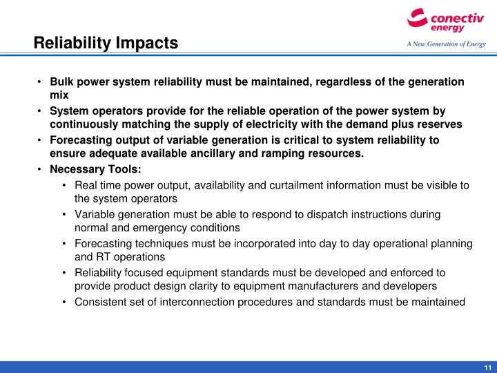 Reliability Impacts