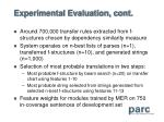 experimental evaluation cont