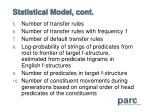 statistical model cont