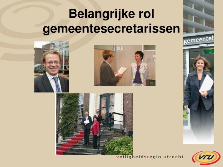Belangrijke rol gemeentesecretarissen
