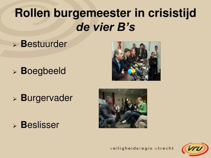 Rollen burgemeester in crisistijd
