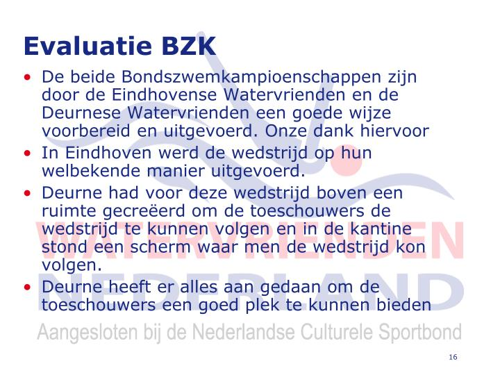 Evaluatie BZK