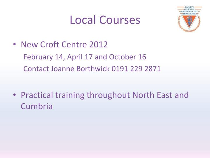 Local Courses