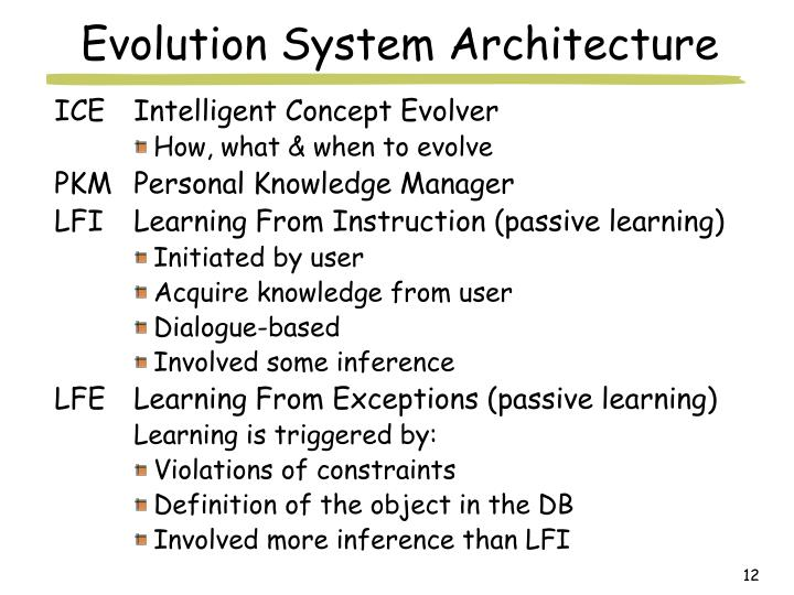 Evolution System Architecture
