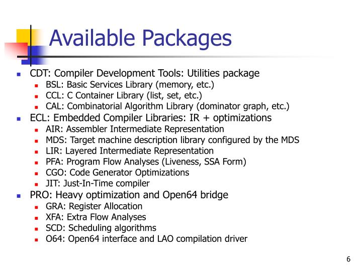 Available Packages
