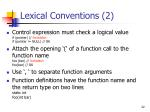 lexical conventions 2