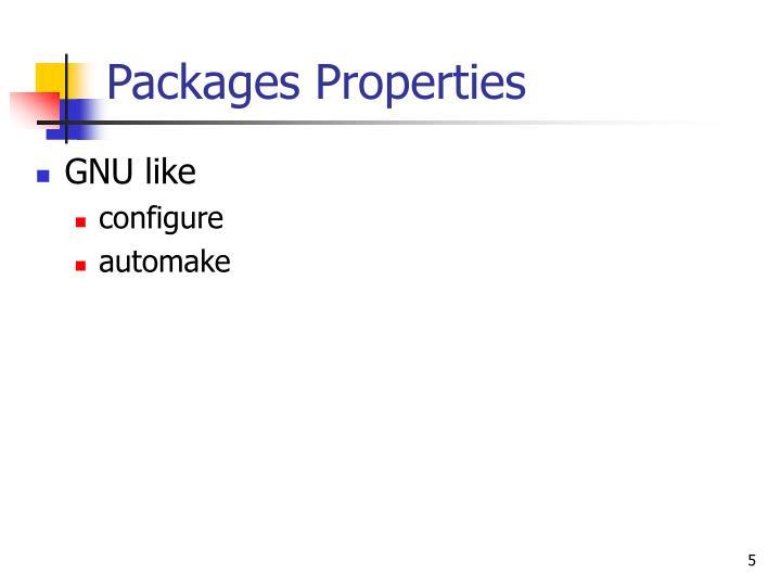 Packages Properties