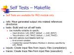 self tests makefile