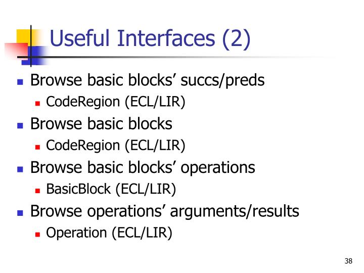 Useful Interfaces (2)