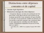 distinctions entre d penses courantes et de capital